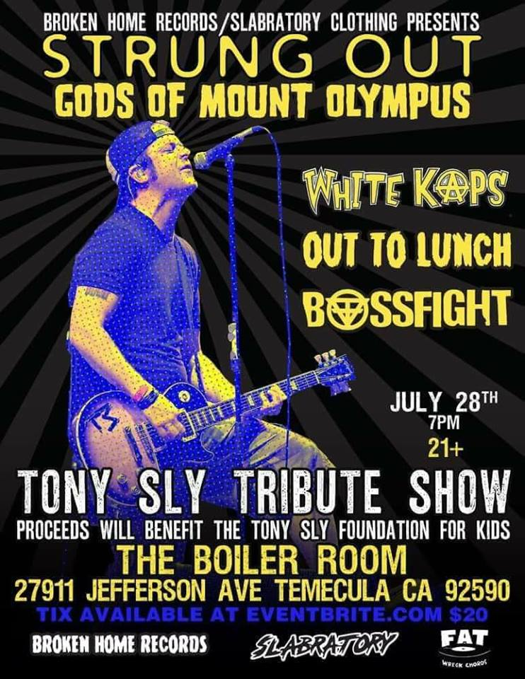 tony sly tribute show with strung out. Black Bedroom Furniture Sets. Home Design Ideas